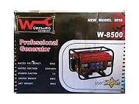 Wurzburg 8500 petrol generator for sale brand new . 2.5kva power