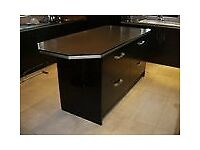 Kitchen drawer units/island unit etc ,BRAND NEW,high gloss black,still has wrapping on