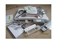 Wii Fit Console, board, wheel, games, etc.