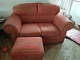 2 x 2 Seater Sofas & Foot Stool