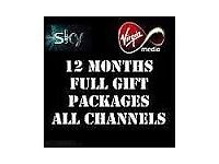 12 Month Gifts - VM Cable or Sky