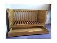 Mamas and Papas Ocean Oak Cot Bed