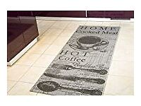 Kitchen Rug 80 x 200cm Coffee Design
