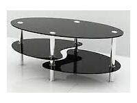 *Bargain* Black Gloss + Chrome 3 tiered Cara coffee table