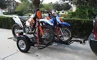 Kendon Motorcycle Trailers for Sale Fold upo to stand in a Corner of Your Garage
