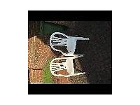 Plastic chairs (ideal if expecting extra guests at Christmas!)