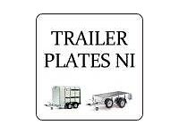 Trailer vin plates for sale (plant, cattle,Boat, car,)