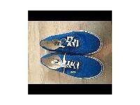 Blue vans size 9(us 11)