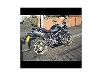 Triumph Street triple R, it's a 675cc 2010 plate, with 2,500 on the clock. perfect condition