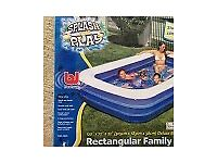 Bestway Deluxe Rectangular Family Pool 120 x 72 x 22 inches. Excellent Condition
