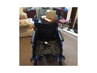 Wheelchair with motor to assist you to push exellent condition hardly ever used