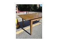 Sturdy Extendable OKA oak dining table - 2 metres extended