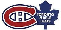 CHRISTMAS GIFT IDEA! LEAFS VS HABS IN MTL ON FEB27 & MORE!!!!