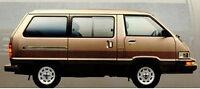 Toyota Van VanWagon  1984 1985 1986 1987 1988 1989