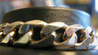 """""""*New* Silver Mens 8.5"""" Curb ID Bracelet"""" ( jewelry - by owner)"""