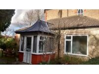One Bed Ground Floor Apartment with off street parking and garage