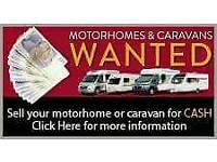 💱💸💷CARAVANS CAMPERS MOTORHOMES DAMP VANS WANTED