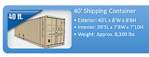 Used 40ft shipping containers Kingston Kingston Area image 4