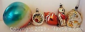 Vintage Mercury Christmas Glass Ornaments - Mixed Lot