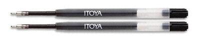 Itoya Refills Black - 2 Pack Medium Point Ballpoint Pen