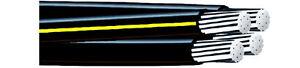 150' Notre Dame 1/0 1/0 1/0 2 Quadruplex Cable Aluminum Wire