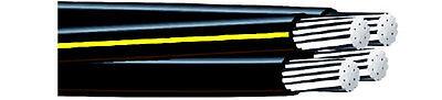 125 Syracuse 20-20-20-1 Aluminum Urd Quadruplex Direct Burial Wire 600v