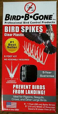 "NEW Bird-B-Gone Bird Control Deterrent 6-1' Spike Strips 6' Kit 5"" W Boat House"