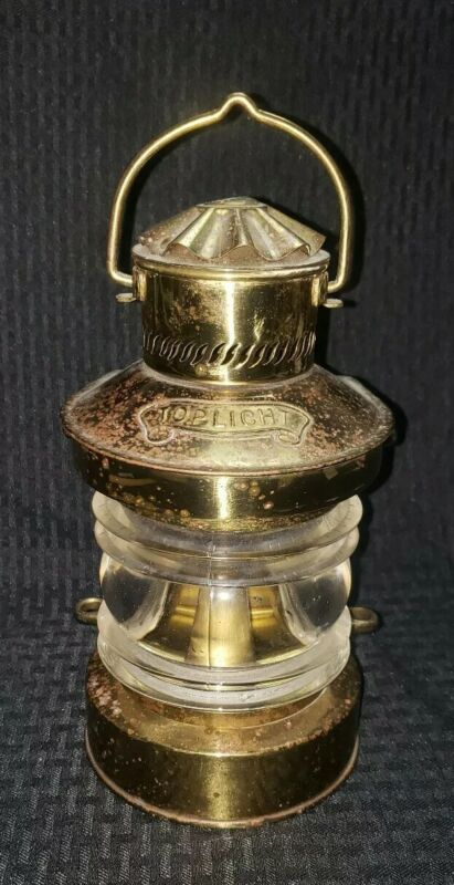 DHR Nautical Wired Dock Light Brass Toplight Rare Vintage