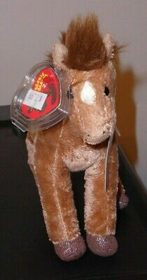 ST* Ty 2.0 Beanie Baby - SADDLE the Horse (7 Inch) MINT with MINT TAGS (STICKER)