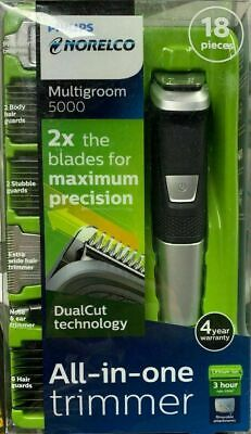 Brand NEW Philips Norelco 5000 Multigroom Hair Trimmer with 18 Attachments