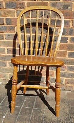 Antique Spindle Back Chair Rustic