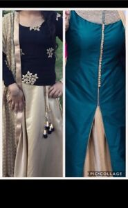 Gold lengha skirt with 2 tops