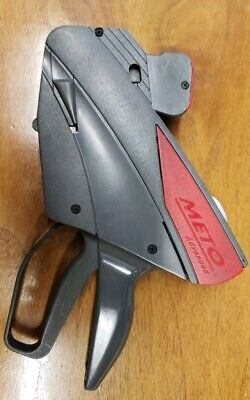 Meto Advanced Price Gun Sticker Label 2-line Pricing Gun Used Works Great