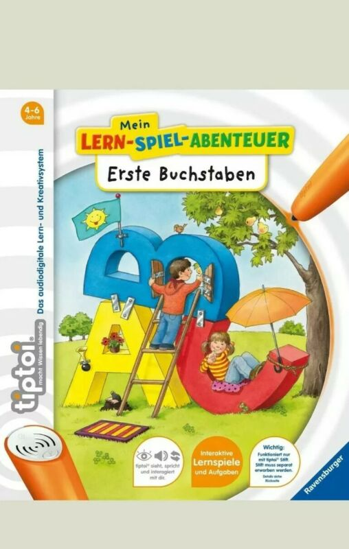 RAVENSBURGER tiptoi® Buch - Mein Lern-Spiel-Abentuer - Erste Buchstaben - NEU