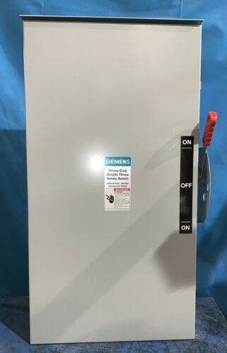 SIEMENS DTNF364R DOUBLE THROW MANUAL TRANSFER SWITCH 3p 200 A 600V NON-FUSED