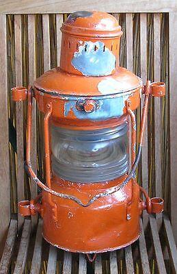 alte originale Ankerlaterne Schiffslampe Schiffslaterne Positionslampe Lantern