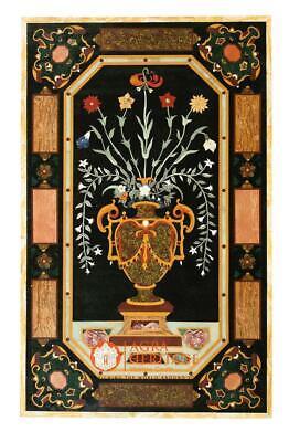 Mármol Negro Decorativo Centro Comedor de Mesa Pitradura Arte Pasillo Deco E1636