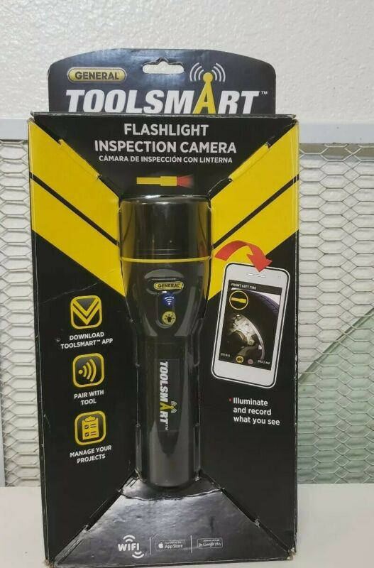General Tool TS07 ToolSmart WiFi Connected Flashlight Video Inspection Camera