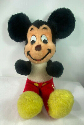 Vintage Walt Disney Mickey Mouse Plush USA Made California Stuffed Toys