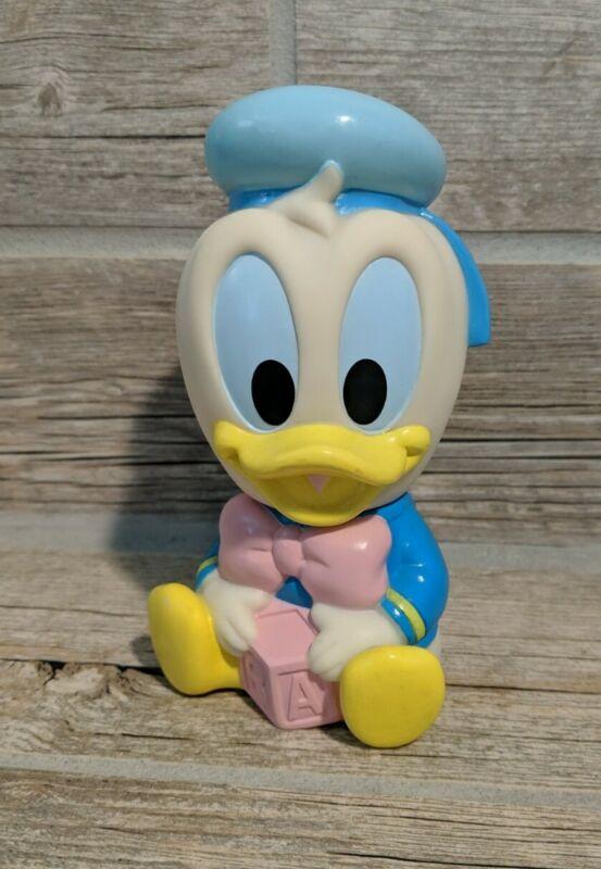"""Vintage Arco Baby Disney Donald Duck 5"""" Rubber Toy Squeeze Squeak Vinyl Figure"""