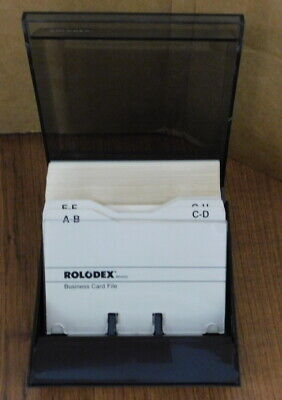 Rolodex Business Card File Cbc-100 With Dividers And Card Holders Box