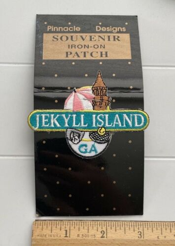 NIP Jekyll Island Georgia Golden Isles Souvenir Embroidered Iron-on Patch Badge