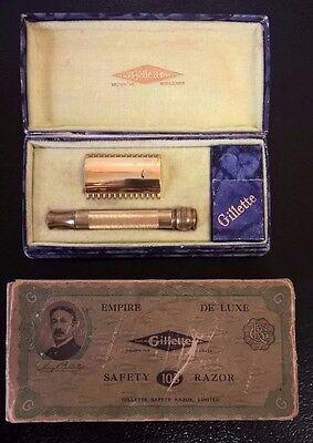 Vintage 1921-28 Gillette Razor Empire De Luxe with Original Case & Box