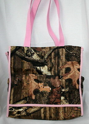 MOSSY OAK INFINITY CAMO CAMOUFLAGE & PINK DIAPER BAG, or TOT