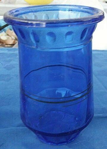 L. E. Smith cobalt blue depression glass 5 1/2