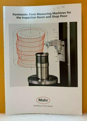 Mahr Formtester, Form Measuring Machines for the Inspection Room & Shop Floor.