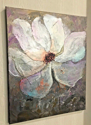 Original Acrylic Painting Abstract Flower Textured canvas Interior Art picture Acrylic Painting Video