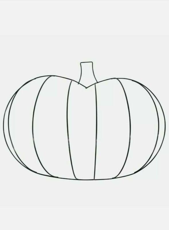 "Lot of 5 Pumpkin Wreath Form Wire  13"" x 17.5""  3D Crafts Diy Halloween"