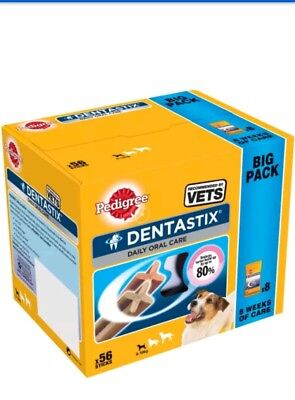 Pedigree Dentastix Denta Stix Small Dog Bulk Teeth Clean Dental Chew Treats x 56