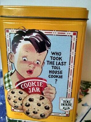 Vintage Nestle Toll House Cookie Tin-Used